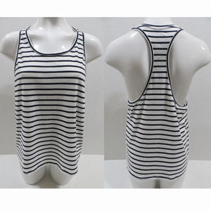 J.Crew top Medium striped racerback tank F9851